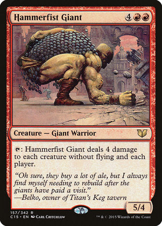 Hammerfist Giant [Commander 2015] | Mothership Books and Games TX