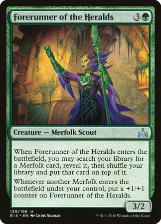 Forerunner of the Heralds [Rivals of Ixalan] | Mothership Books and Games TX