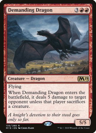 Demanding Dragon [Core Set 2019] | Mothership Books and Games TX