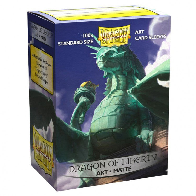 Dragon Shield Dragon of Liberty Matte Art Sleeves (Standard Size) | Mothership Books and Games TX
