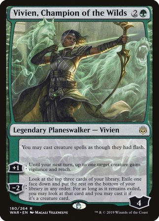 Vivien, Champion of the Wilds [War of the Spark] | Mothership Books and Games TX