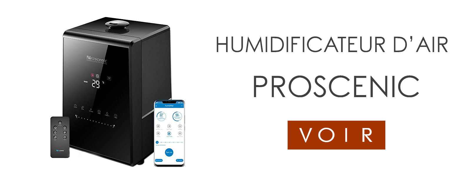 Humidificateur d'air Bébé | Proscenic