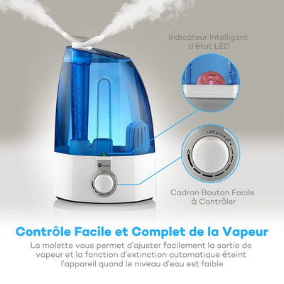Humidificateur d'air <br> TaoTronics Blue