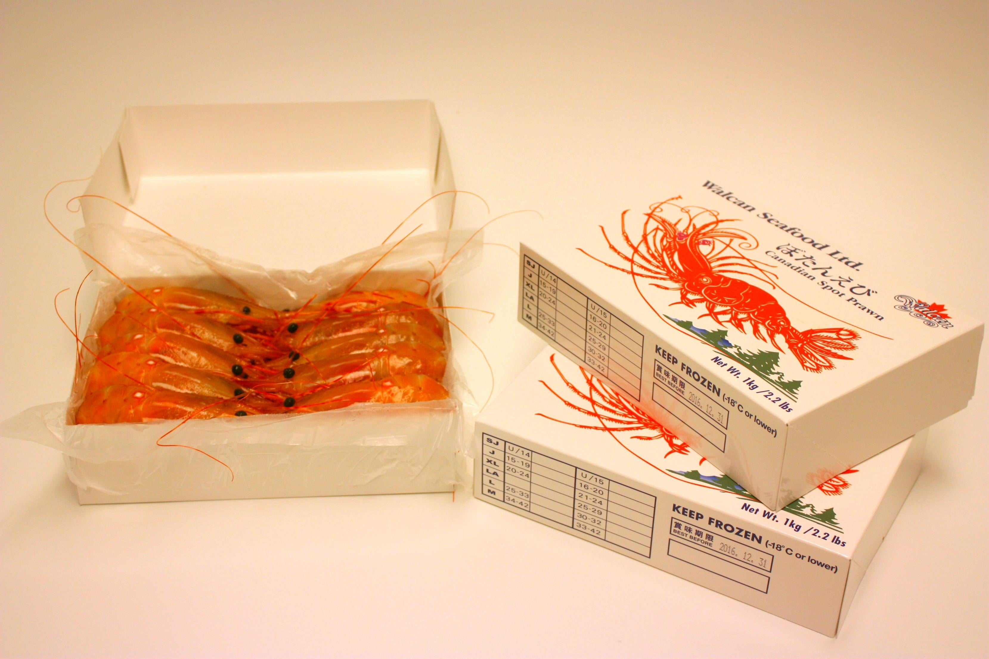 Whole Frozen BC Spot Prawns (2020)