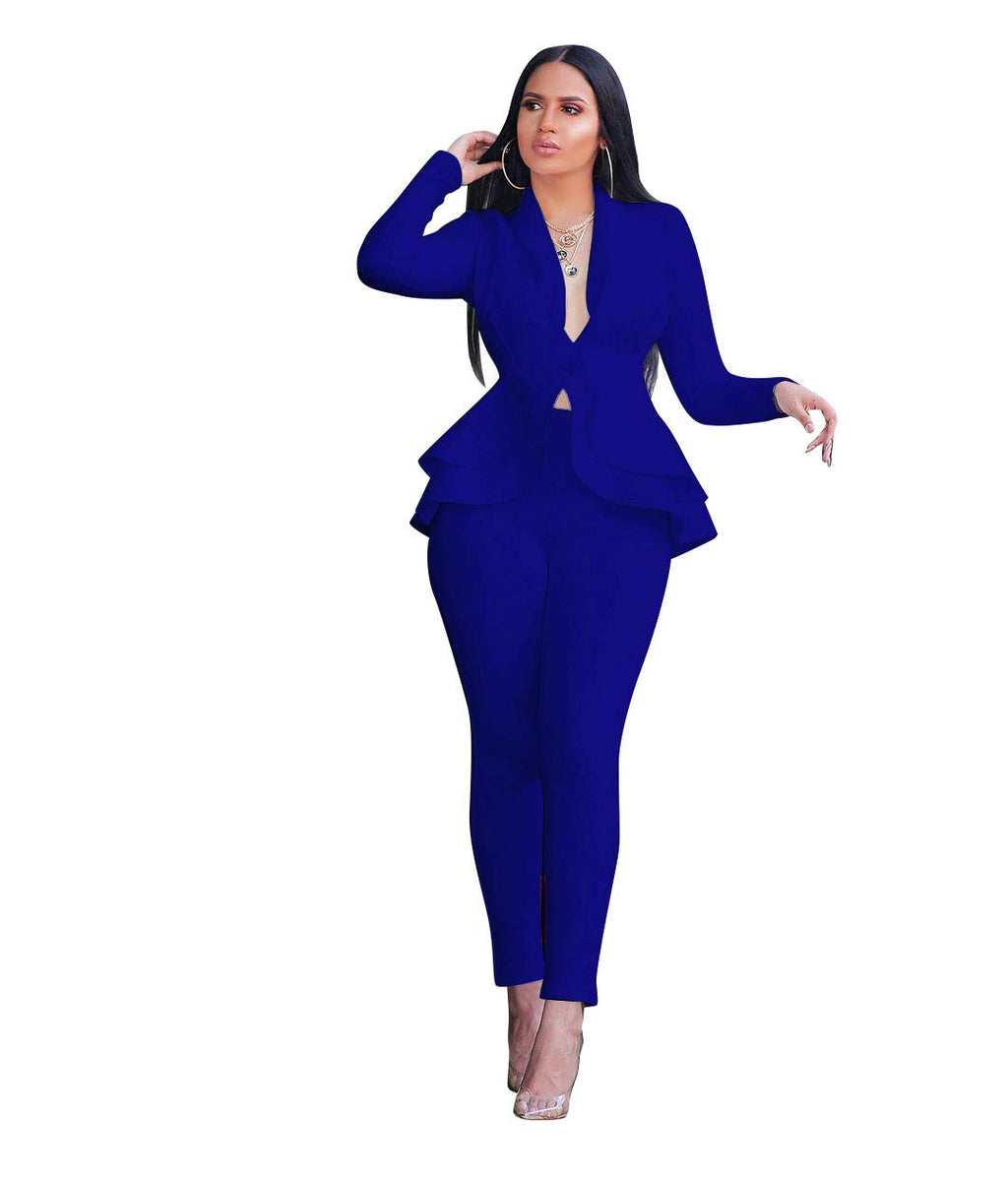 Just Thick Exclusive Two-Piece Pant Suit