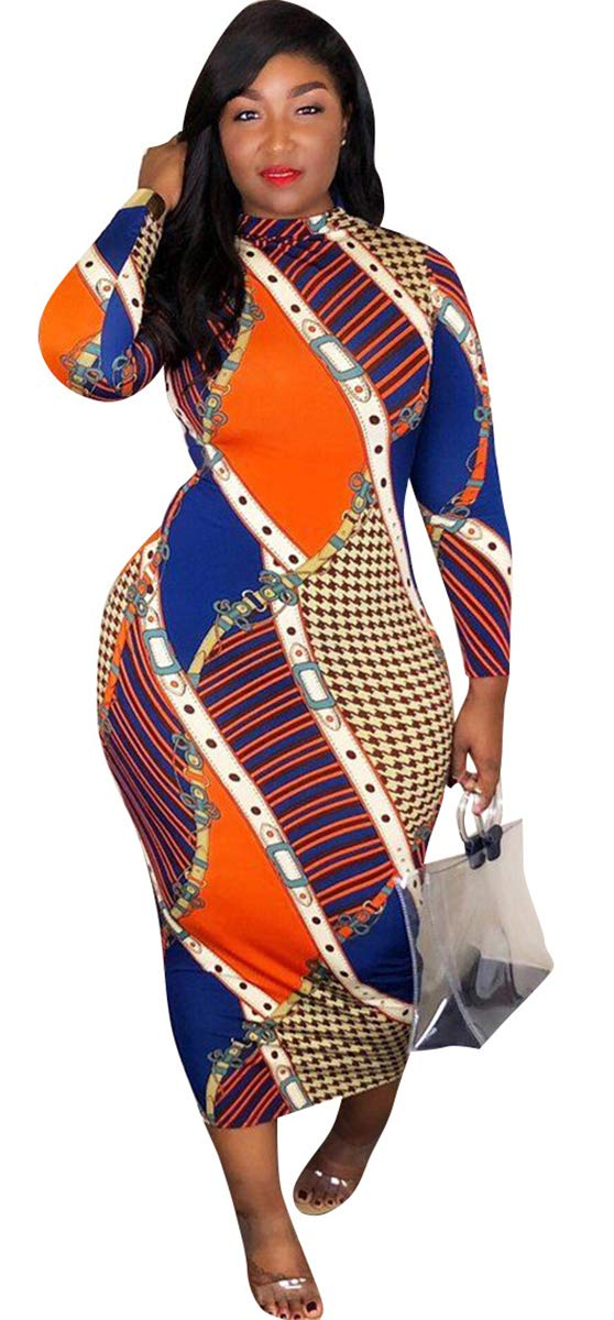 Just Thick Exclusive Multi-Color Maxi Dress