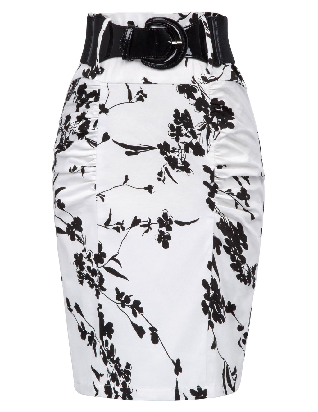 Just Thick Exclusive Pencil Skirt, Floral-5