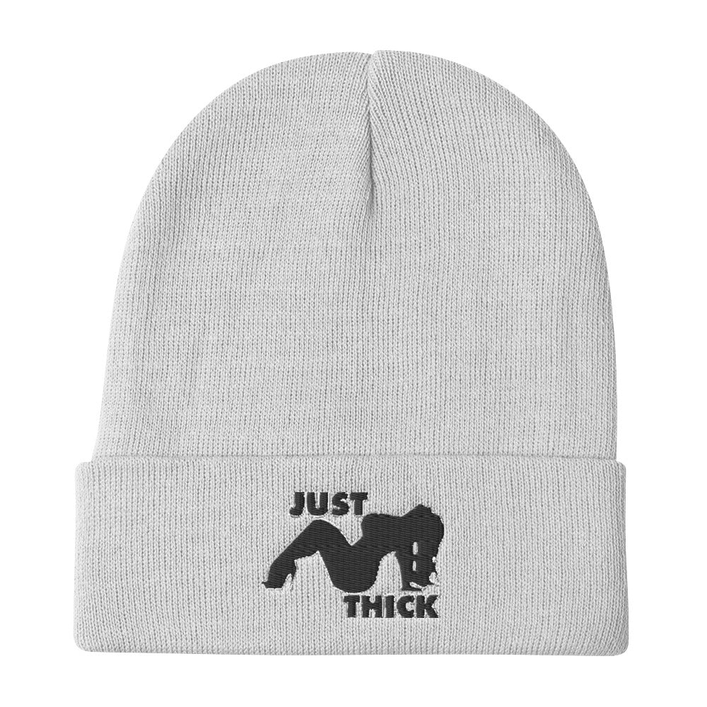 Original Just Thick Beanies Black Silhouette (White)