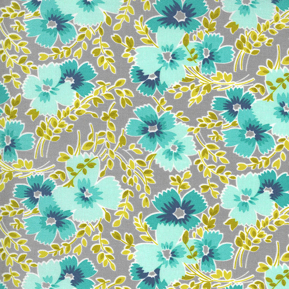 23331 12 FOGGY/FLOWERS FOR FREYA/by Linzee Kull McCary for Moda Fabrics
