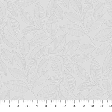 23913 92 SIMPLY NEUTRAL 2/Large Leaf Toss/by Deborah Edwards for Northcott Studio