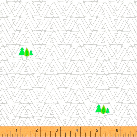 52158-2 WHITE/TREES/FAVORITE THINGS/by Shayla Wolf for Windham Fabrics
