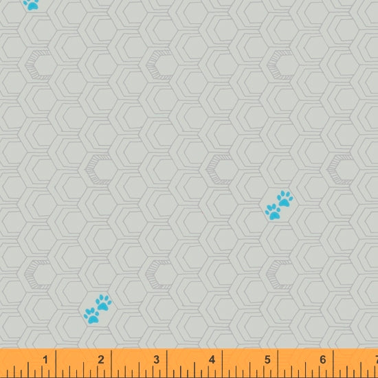 52159-11 GREY/PAWS/FAVORITE THINGS/by Shayla Wolf for Windham Fabrics