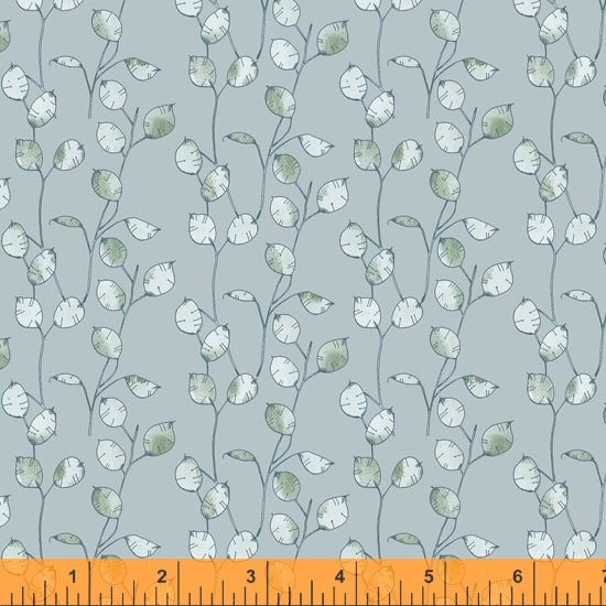 52320 7 SKY-Honesty Seed -MIDSUMMER/by Hackney and Co for Windham Fabrics
