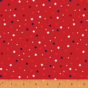 52588-3 RED-STARS/WE THE PEOPLE/by Whistler Studios for WINDHAM FABRICS