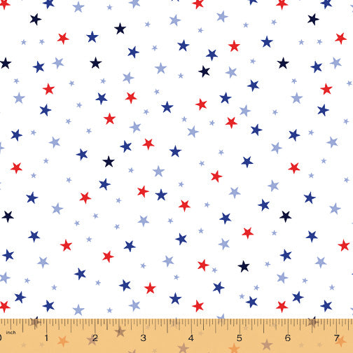 52588-4 WHITE-STARS/WE THE PEOPLE/by Whistler Studios for WINDHAM FABRICS