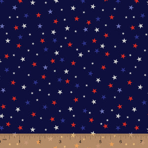 52588-6 NAVY-STARS/WE THE PEOPLE/by Whistler Studios for WINDHAM FABRICS