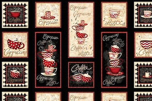 56051 913 Pot Holder Panel Wilmington Morning Coffee by Lorilynn Simms