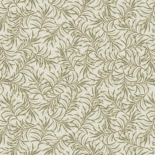 9661W 74 Boughs of Beauty Taupe/Green 108