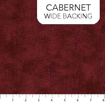 B9045-26 CABERNET/CRACKLE WIDEBACK/by Northcott Studio