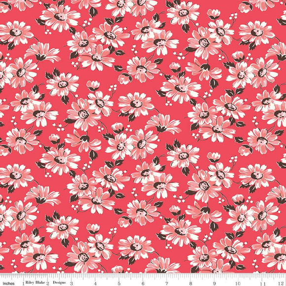 C10213 FLORAL CAYENNE/Flea Market/by Lori Holt for Riley Blake Designs