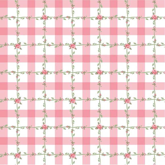 DP20419 Criss Cross Applesauce Pink/Dots & Posies by Poppie Cotton