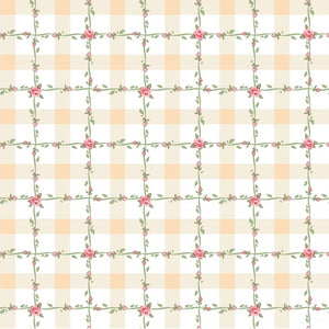 DP20418 Criss Cross Applesauce Yellow/Dots & Posies by Poppie Cotton