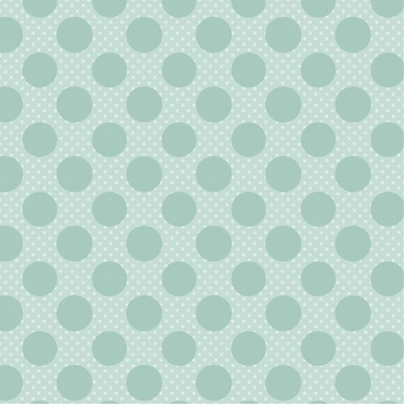 DP20417 Dots on Dots Green/Dots & Posies by Poppie Cotton