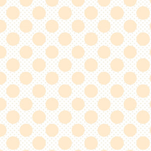 DP20415 Dots on Dots Yellow/Dots & Posies by Poppie Cotton