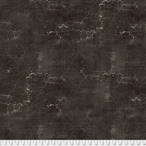 PWTH128.BLACK/Cracked Shadow/ABANDONED/by Tim Holtz Eclectic Elements for FREESPIRIT FABRICS