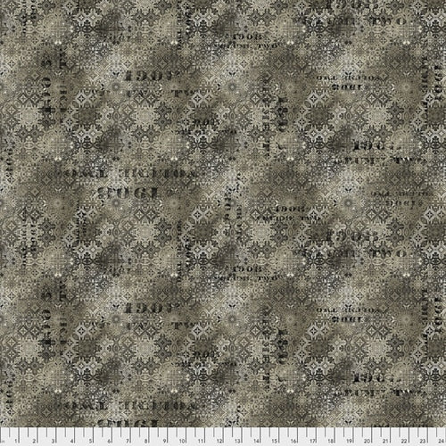 PWTH129.NEUTRAL/Faded Tile/ABANDONED/by Tim Holtz Eclectic Elements for Freespirit Fabrics