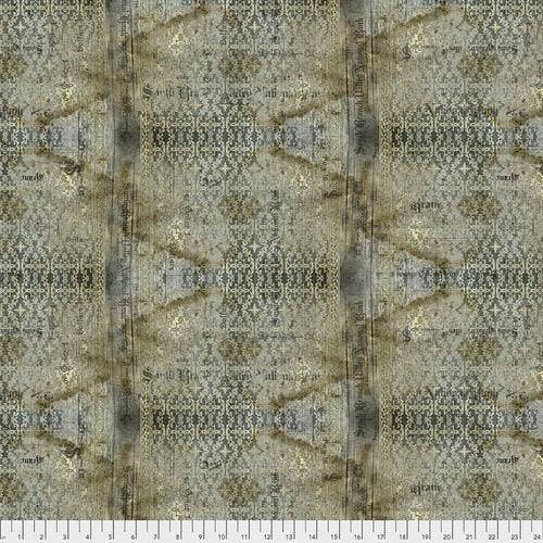 PWTH133.NEUTRAL/Stained Damask/ABANDONED/by Tim Holtz Eclectic Elements for Freespirit Fabrics
