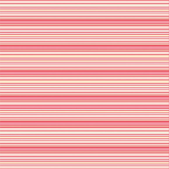 DP20404 Pink Stripes/Dots & Posies by Poppie Cotton