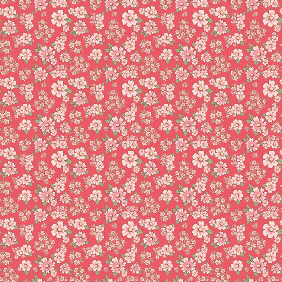 DP20413 Mini Fleurs Red/Dots & Posies by Poppie Cotton