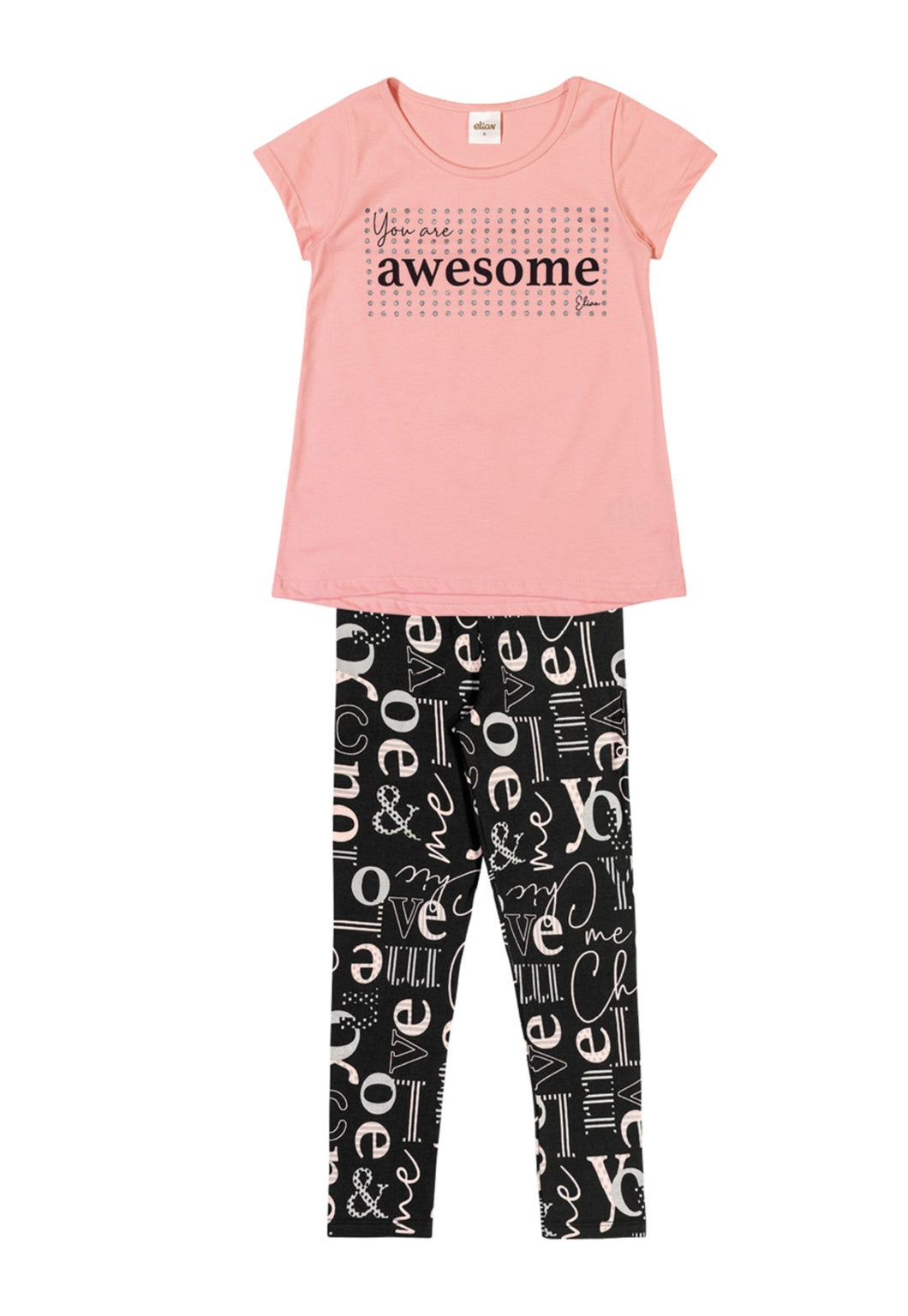 Conjunto Infantil Elian Awesome Rosa 251320RS