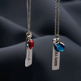 Personalised Bar Necklace with Birthstone - NOVALEE JEWELLERY