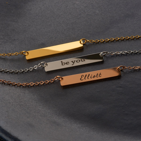 Personalised Bar Bracelet - NOVALEE JEWELLERY