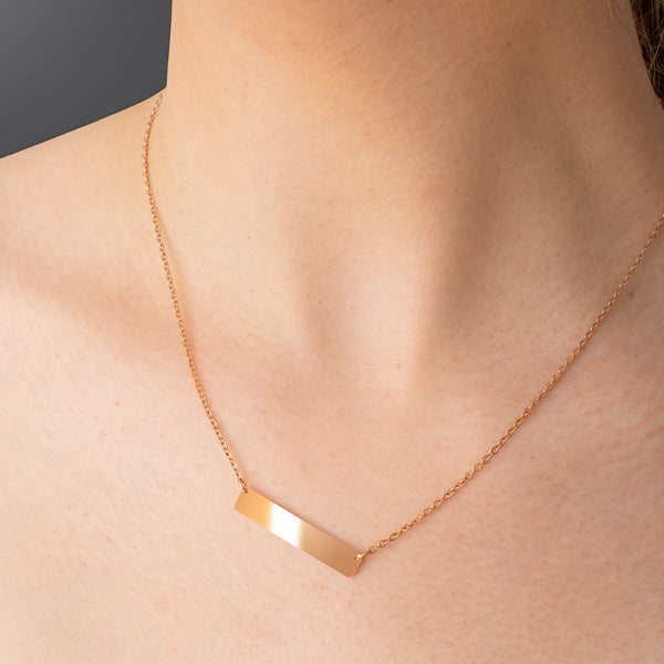 Engravable Bar Necklace - NOVALEE JEWELLERY
