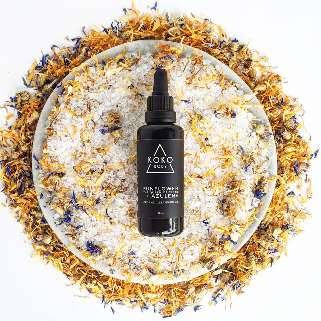 Sunflower + Azulene Cleansing Oil