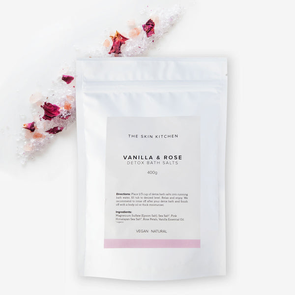 Vanilla & Rose Detox Bath Salts 400 gm
