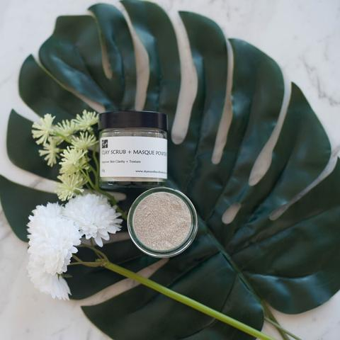 Natural Clay Scrub + Mask Powder