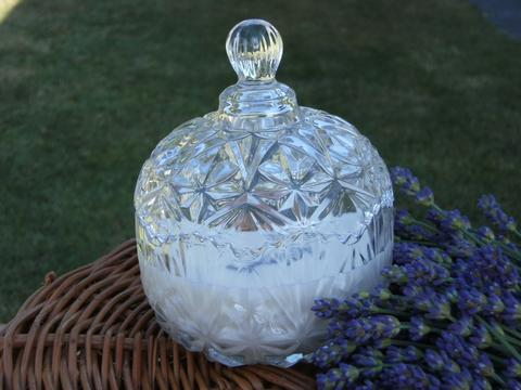 Lavender Essential Oil Crystal Candle