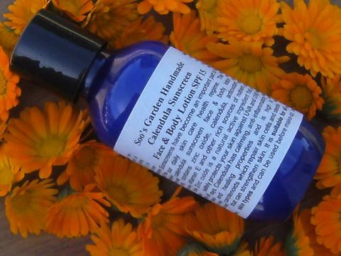 Calendula Sunscreen Face & Body Lotion SPF 15