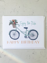 Load image into Gallery viewer, Notecard - Happy Birthday Bike