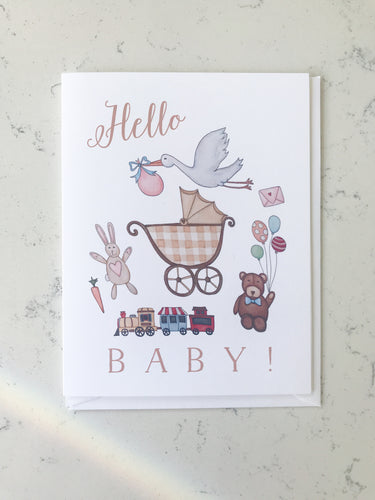Notecard - Hello Baby