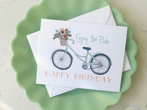 Notecard - Happy Birthday Bike