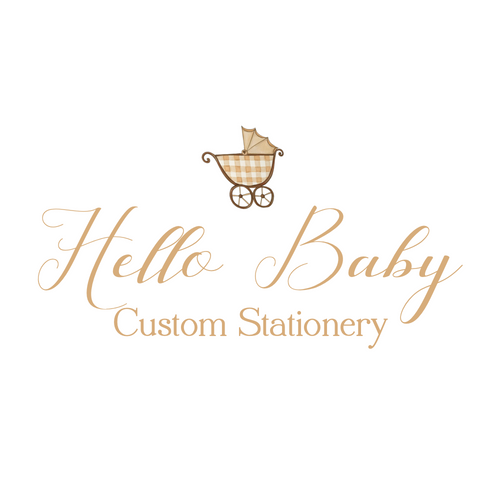 Hello Baby Custom Stationery Sets