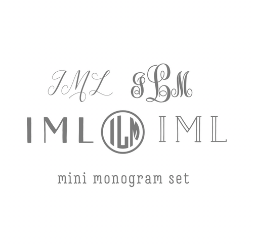 Mini Monogram Stationery Set