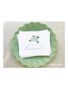 Wedding Notecard - Bridesmaid