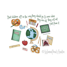 Load image into Gallery viewer, Art Print | School Supplies