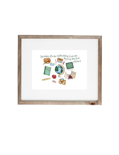 Art Print | School Supplies